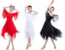 5096952535e27 二点送料無料 女性大人バレエダンスワンピース フレアワンピース モダンダンス衣装 社交ダンス