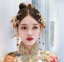 二点送料無料 舞台用髪飾り7点セット 中国風コスプレ衣装に最高なヘアアクセサリ 中華風古典髪飾りセット フリン…