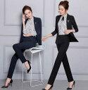 二点送料無料/スーツセットレディース用ジャケット+パンツorスカート二点セット/長袖シャツ3点セット/OL通勤フォマー…