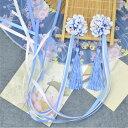 二点送料無料 超可愛い中国風髪飾り 10色 二個入(ペア)絹の花 チャイナ華流風コスプレ用髪飾り 中国古代古典風…