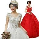 二点送料無料/カラードレス ロングウェディングドレス フォマールドレスパーティー二次会ドレスお花嫁結婚ドレスブラ…