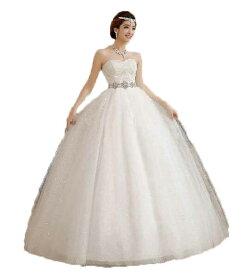 cf35ff2dee516 高級ウェディングドレス キラキラで輝く豪華なロングウェディングドレス 結婚式二次会パーティー披露宴エンパイアドレスフリルドレス 妊婦さん ウェディングドレス ...