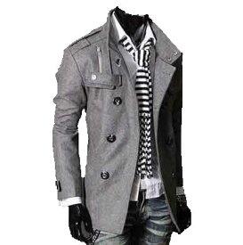二点送料無料トレンチコート スーツ コート に OFFにも ! 上質 ・英国調 ウール シングル Pコート チェスター ステンカラー ダブルコート メンズ コート メンズ ビジネス カジュアル フォーマル 3色選択