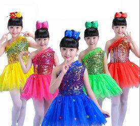c0cba574cd18d 全品二点送料無料 キッズワンピース スパンコール チュール キッズダンス衣装 姫