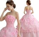 二点送料無料/ピンク赤白3色 ロングウエディングドレス  お洒落 ドレス花嫁ブライド ドレス カラードレス【結婚式】…
