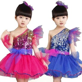 e9ce50b69e598 二点送料無料ダンス衣装 女の子 キッズかわいいワンピース ステージ チュールスカート学園祭