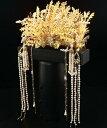 オリジナル豪華合金ヘアアクセサリー キラキラ合金鳳凰パールフリンジかんざし 中国古代宮廷髪飾りセット 華流コス…