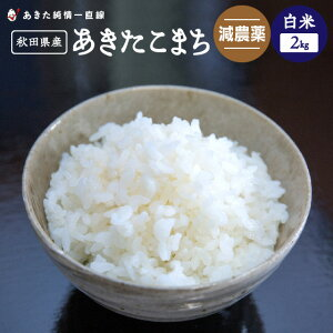 【令和1年産】《減農薬》《白米》秋田県産 あきたこまち 2kg【生産者直送】〈次郎米〉