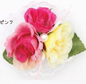 CanNana 数量限定★【きゃんナナ】フラワーワンタッチアクセ アクセ リボン お花 バラ イベント 飾り
