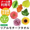 リアルモチーフタオル 植物 日本製 国産 今治 タオル ハンカチ ハンカチタオル ゴムの木 楓 かえで 桂 かつら オーク バラ 薔薇 ローズ…