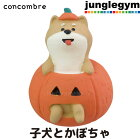 デコレコンコンブルdecoleconcombreハロウィン子犬とかぼちゃ