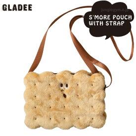 Gladee グラディー スモアポーチ (ストラップ付き) ポシェット ビスケットサンド かわいい ビスケット 小さめサイズ ショルダーバッグ ショルダーバック バッグ バック おもしろ gladly gladee グラッドリーグラディー