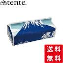 ティッシュカバー ティッシュケース 壁掛け可 テンテ TENTE ティッシュボックスカバー富士山 Fujiyama :ブルー [ おしゃれ 可愛い かわ…