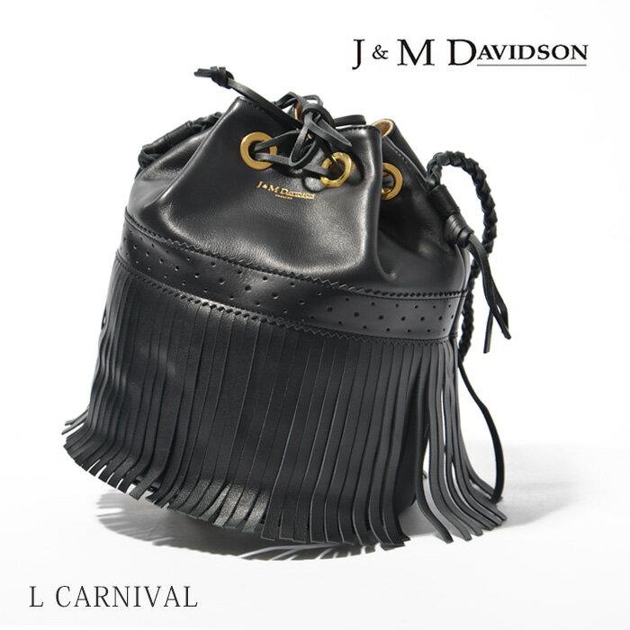 J&M Davidson カーニバル バッグ フリンジ 本革 定番 ショルダー バッグCARNIVAL L LARGE 815 7314レディース カーニバル 巾着型 ブラック BLACK即日発送 【コンビニ受取対応商品】