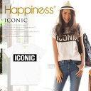 ハピネステン ハピネス10 ハピネス ICONIC レディース ハピネステンTシャツ Tシャツ ロゴTシャツ カットソー 半袖 白 …