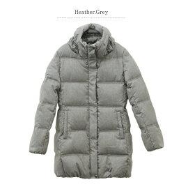 ダウンコートダウンジャケットレディースロングママコートチャコールグレーSサイズ長袖JGコレクションJGCollection|ダウンアウターおしゃれコートあうたー防寒フェザー大人カジュアル