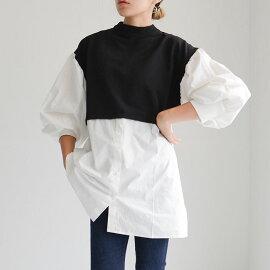 ドッキングレイヤードシャツ