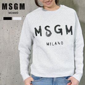 【送料無料】MSGM レディース トレーナー スウェット ロゴ エム エス ジー エム MSGM MILANO イタリア ミラノ シンプル 定番 トップス 長袖 ブランド ロゴトレーナー ロゴスウェット スウェットトレーナー