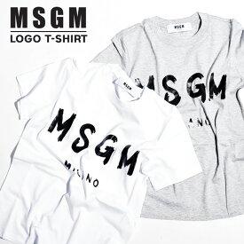 MSGM レディース Tシャツ ロゴT ロゴ エム エス ジー エムMSGM MILANO イタリア ミラノ シンプル 定番レディース トップス 半袖 ブランド ロゴtシャツ プリント半袖 tシャツ送料無料 XS S M サイズ