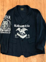 【BY GLAD HAND】バイ グラッド ハンド FOR SMOKING - LINEN JACKET (NAVY) リネン ジャケット
