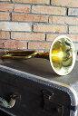 【真鍮 オブジェ 置物 楽器 オーナメント トランペット ウォールオブジェ アンティーク調 アンティーク風】ブラスクインテットビューグルL