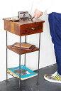 【インダストリアル 家具 テーブル アイアン ウッド 木製 什器 アンティーク調 アンティーク風】アイアンウッドサイド…