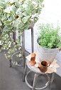 【鉢 植木鉢 ポット フラワースタンド 花台 シャビー ガーデニング おしゃれ アンティーク調 アンティーク風】SABBY …