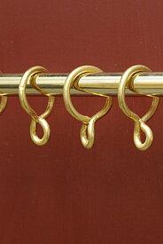 【ブラス カーテン ポール リング 真鍮 アンティーク調 アンティーク風】ブラス カーテンリング 5Pset