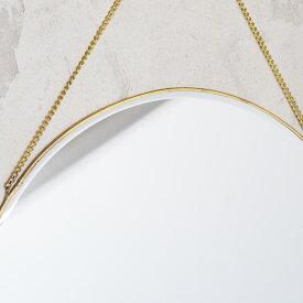 【ミラー 壁掛け おしゃれ 真鍮 鏡 ウォールミラー ゴールド アンティーク調 アンティーク風】ブラスフレーム ミラー ラウンドL