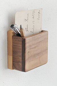 【メモホルダー 壁 ペンたて おしゃれ 石膏ボード用 木製 アンティーク調 アンティーク風】MUKU タイル ペンホルダー