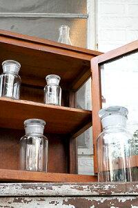 【ガラスボトル ガラス瓶 インテリア 雑貨 容器 小物入れギフト キッチン 調味料入れ アンティーク調 アンティーク風】メディシンボトル クリアー L