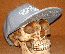 """【CHIPPS COMPANY チップスカンパニー】 限定 """"ニューエラ キャップ スタイル"""" 3D立体刺繍入り ベースボール キャップ ≪EL CHIPPS≫ (GRAY) バイカー ホットロッド チカーノ ヒップホップキャップ NEWERA CAP メッシュキャップ 野球帽子 フラットバイザー グレー 帽子"""