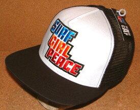 【CHIPPS COMPANY チップスカンパニー】 PEACE CAP ピースキャップ アメカジ フラットバイザー ニューエラ キャップ スタイル 刺繍 ワッペン付き メッシュキャップ (WHITE×BLACK) ベースボールキャップ 帽子 NEWERA CAP ヒップホップ バイカー ホットロッド 白 黒