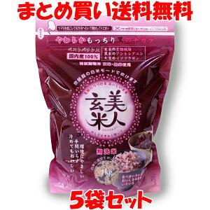美人玄米 黒米入り玄米 無洗米 1kg×5袋セットまとめ買い送料無料