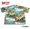 """No.SS37471 SUN SURF サンサーフS/S RAYON HAWAIIAN SHIRT""""PROWLING TIGER"""""""