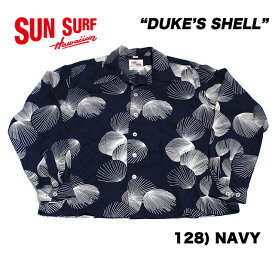 "No.DK27557 DUKE KAHANAMOKU デューク・カハナモクSPECIAL EDITIONL/S RAYON HAWAIIAN SHIRT""DUKE'S SHELL"""