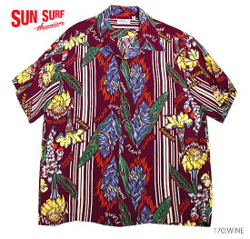 """SUN SURF サンサーフ アロハシャツRAYON S/S""""GINGER BLOSSOM""""Style No.SS34448"""