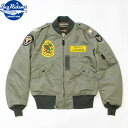 """No.BR14715 BUZZ RICKSON'S バズリクソンズType L-2B """"TOPS APPAREL MFG. CO. ,INC.""""444th FIGHTER INTCP.SQ."""