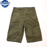 No.BR51907BUZZRICKSON'SバズリクソンズTROUSERS,MEN'SCOTTONWINDRESISTANTPOPLIN,OLIVEGREENARMYSHADE107SHORTS
