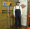 No.HD41631 HEAD LIGHT ヘッドライト8oz. SPECIAL WOVEN STRIPE DENIM LOW BACK OVERALL
