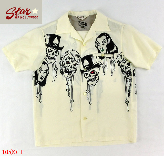 "No.SH36590 STAR OF HOLLYWOOD スターオブハリウッドOPEN SHIRTS""THE HORROR FAMILY"""