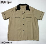 "No.SE37802STYLEEYESスタイルアイズRAYONBOWLINGSHIRT""TWO-TONE"""