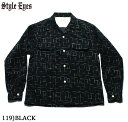 "No.SE27992 STYLE EYES スタイルアイズCORDUROY SPORTS SHIRT""NEP PRINT"""