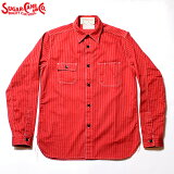 No.SC28340SUGARCANEシュガーケーンFICTIONROMANCE8.5oz.REDWABASHSTRIPEWORKSHIRT