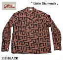 "No.SH27880 STAR OF HOLLYWOODL/S OPEN SHIRT""LITTLE DIAMONDS"""