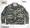 "No.SH27878 STAR OF HOLLYWOODL/S OPEN SHIRT""ZEBRA"""