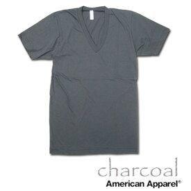 American Apparel (アメリカンアパレル)VネックTシャツ [ライトピンク/Black/Hグレー/チャコール]【2456 アメアパ men's メンズ インナー カットソー TANKTOP Vネック Tシャツ ティーシャツ 無地 半袖 下着 アンダーウエア あす楽】