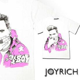 【正規販売/送料無料】JOYRICH (ジョイリッチ)B-boy Tee プリントTシャツ【U1334TE JOYRICH ジョイリッチ メンズ Tシャツ 半袖 トップス L.A ロゴ グラフィック フォト ティーシャツ プリント ストリート あす楽対応】