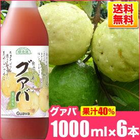 送料無料 順造選 グァバ (果汁40%グァバジュース)1000ml×6本入りセット グアバジュース/グアバ