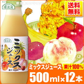 送料無料 順造選 ミックスジュース (果汁100%)500ml×12本入りセット